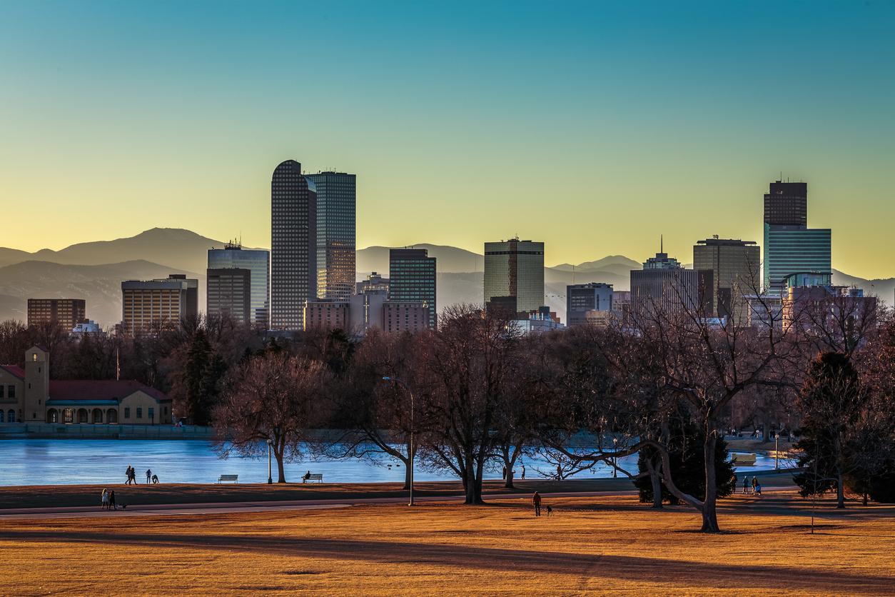 Denver Colorado Usa August 7 2018 The Downtown Denver
